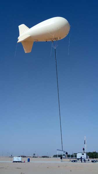 Aerostat with Linden Cable