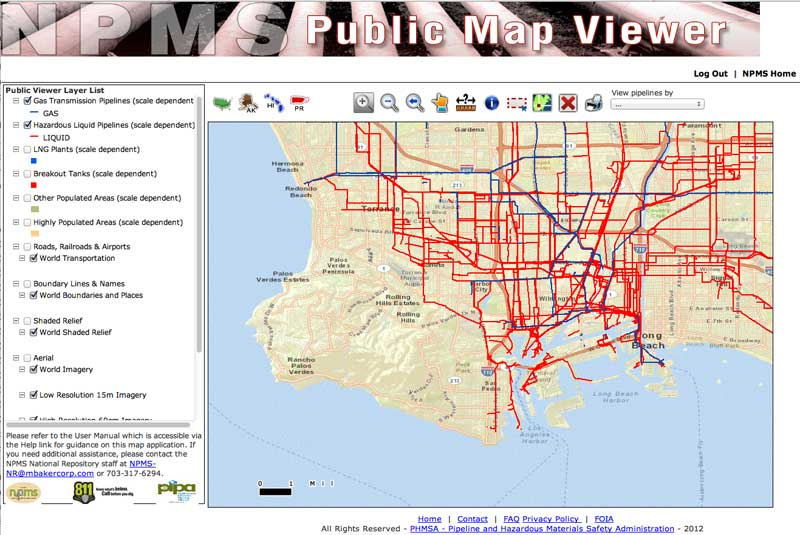 the national pipeline mapping system npms is a geographic information system gis created by the u s department of transportation pipeline and