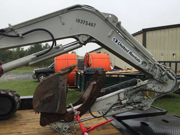 SF rent backhoe