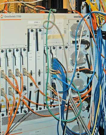 Fiber optic communications equipment