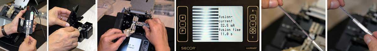 Fusion Splicing Ribbon Fiber Optic Cable