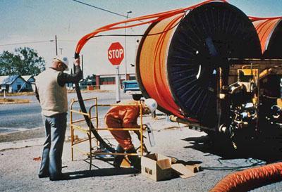 OSP fiber optic installation project