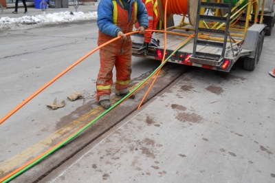 Fiber Optic Installation By Microtrenching